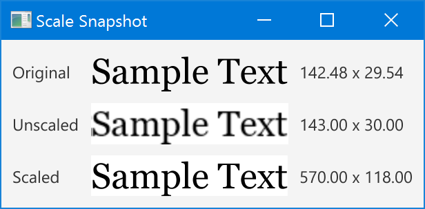 Scale Snapshot