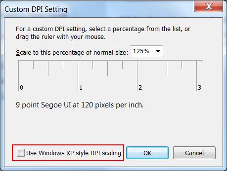 High DPI Settings in Windows