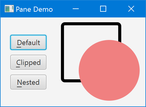 Pane Demo (Default)