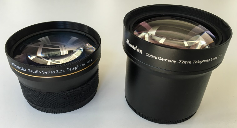 Polaroid & Minadax teleconverters